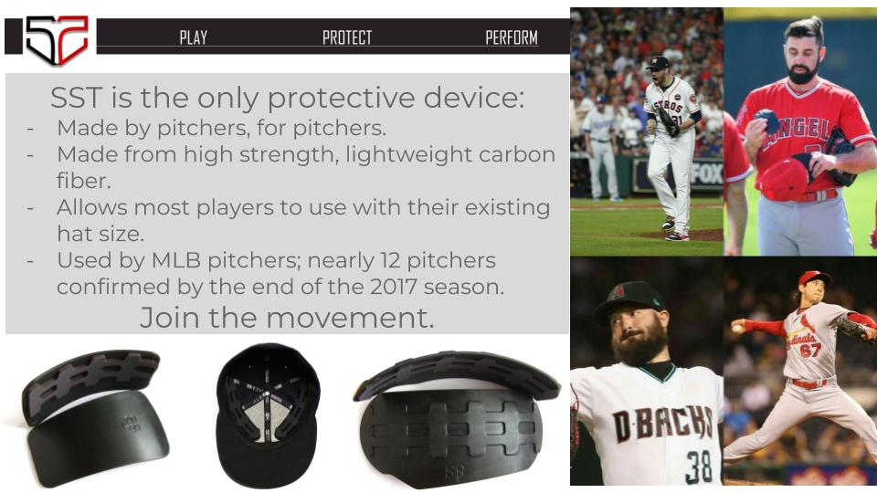 819248cac SST Baseball Carbon Fiber Head Protection Guards For Pitchers ...